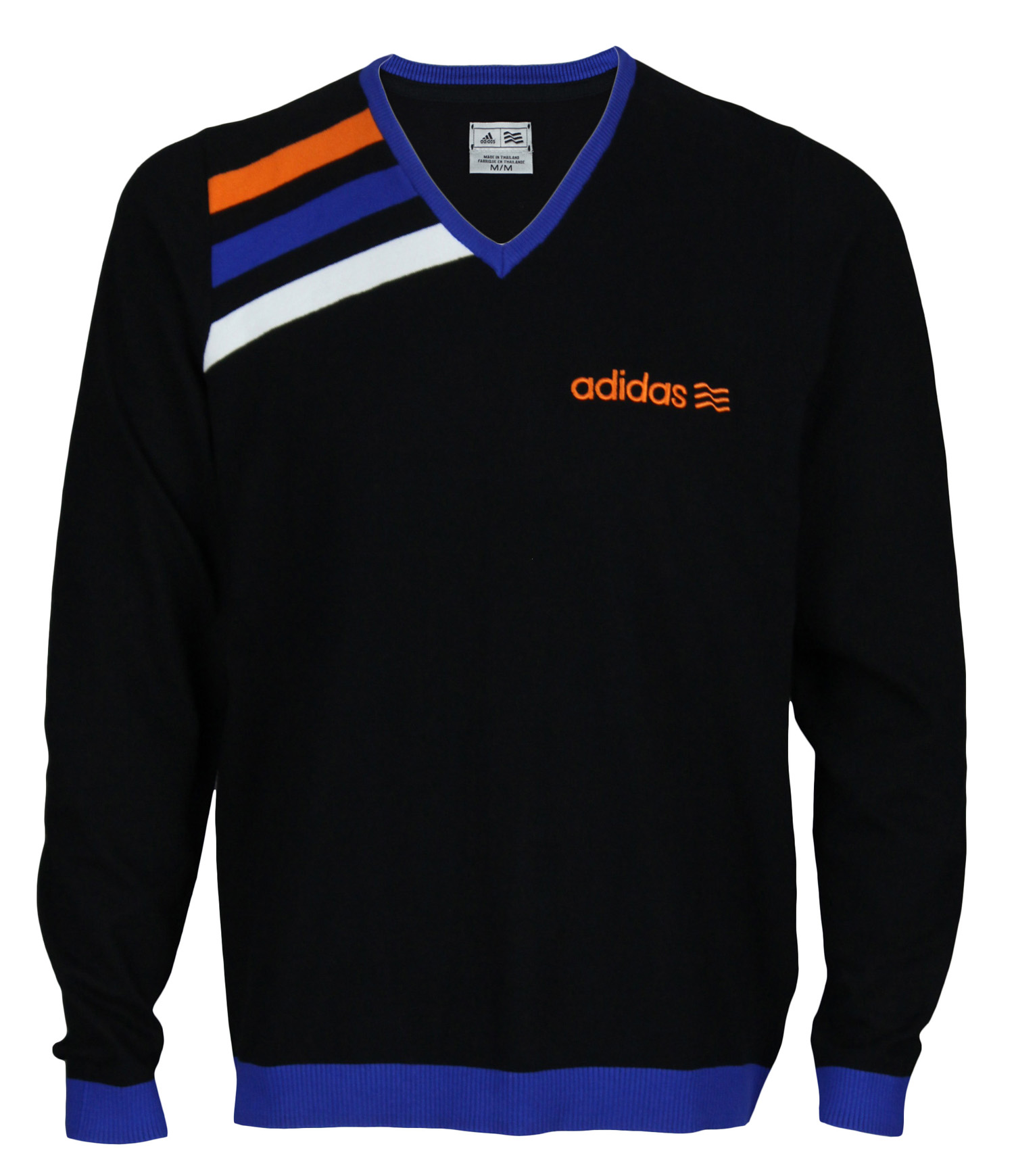 adidas Adidas Mens Athletic Long Sleeve V Neck Pullover Sweater