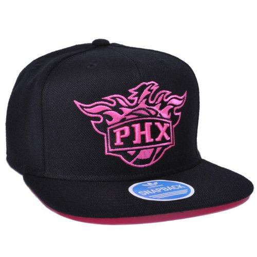 on sale fbcc4 fc578 Adidas NBA Phoenix Suns Men s Black and Pink Snapback Hat, OSFM   eBay