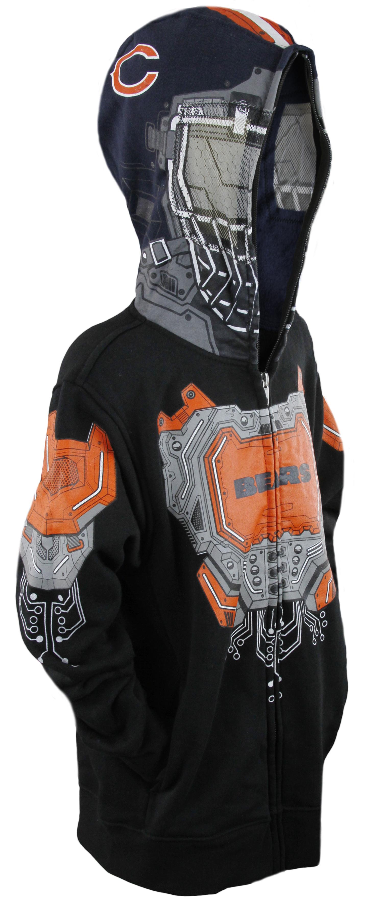 NFL Football Youth Boys Chicago Bears Full Zip Masked Sweatshirt Hoodie 76958efa2
