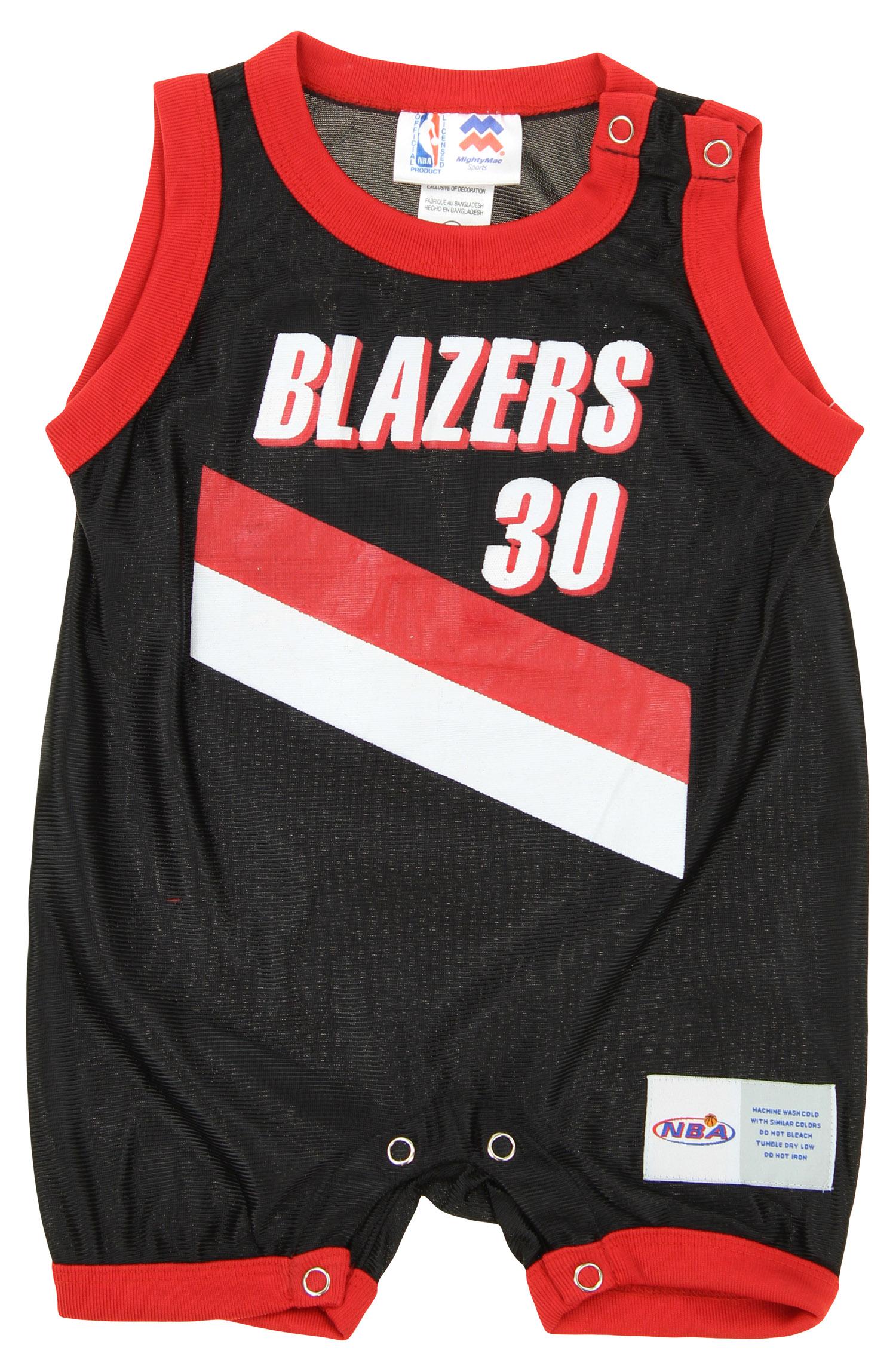 3b921b7bf NBA Infant Portland Trail Blazers Rasheed Wallace  30 Retro Romper ...