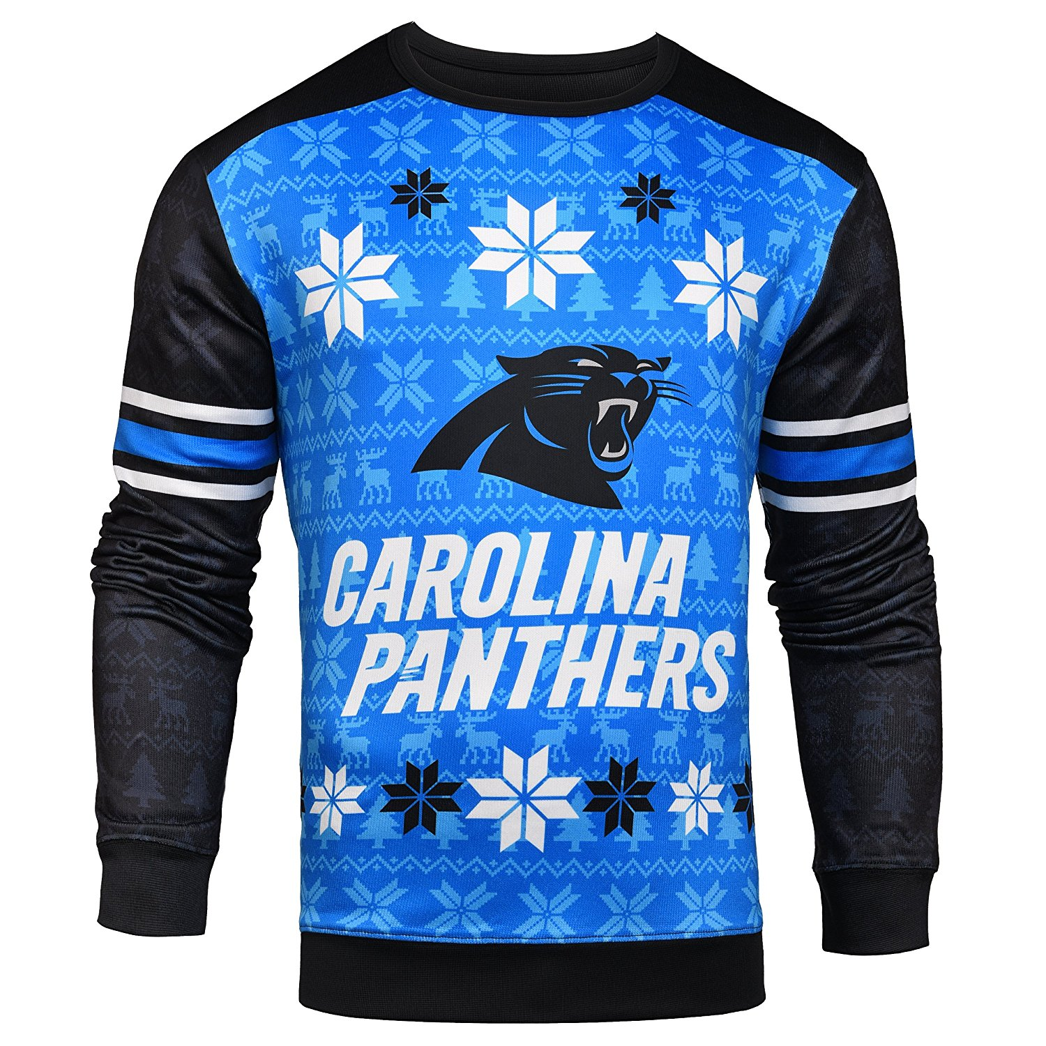 Forever Collectibles Nfl Mens Carolina Panthers Printed Ugly