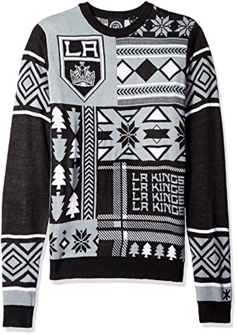 NHL Los Angeles Kings adidas Ugly Sweater Cuffed Pom Knit Mens