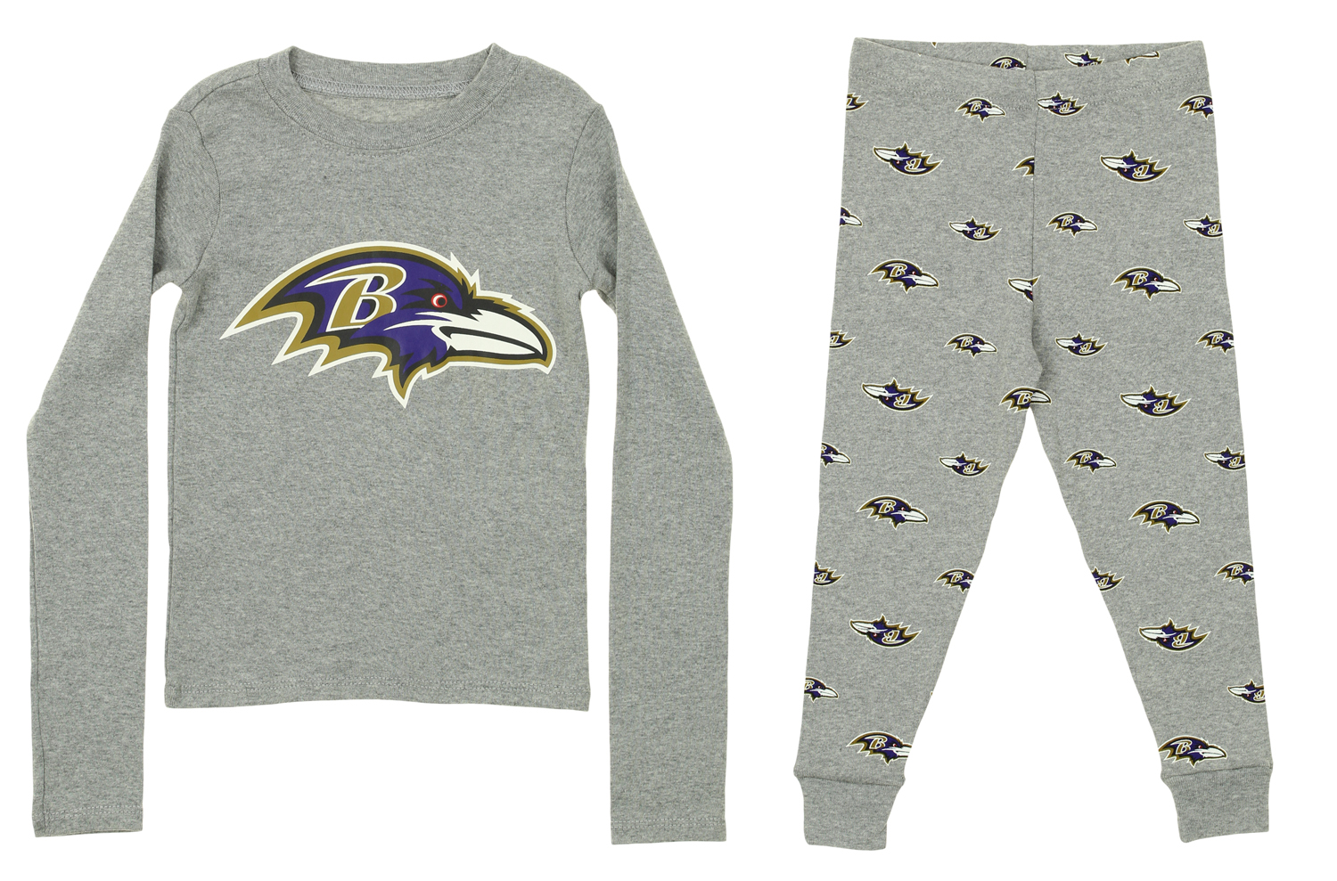 821be2185 OuterStuff NFL Toddlers Baltimore Ravens Long Sleeve Tee and Pant Sleep Set