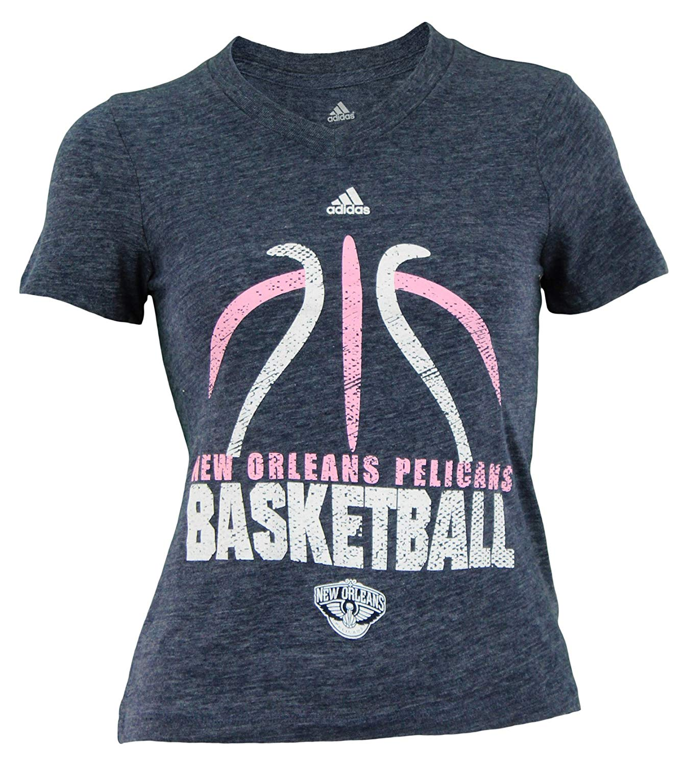1bd42e65 Details about Reebok NBA Youth Girl's New Orleans Pelicans Short Sleeve  Flamingo Tee