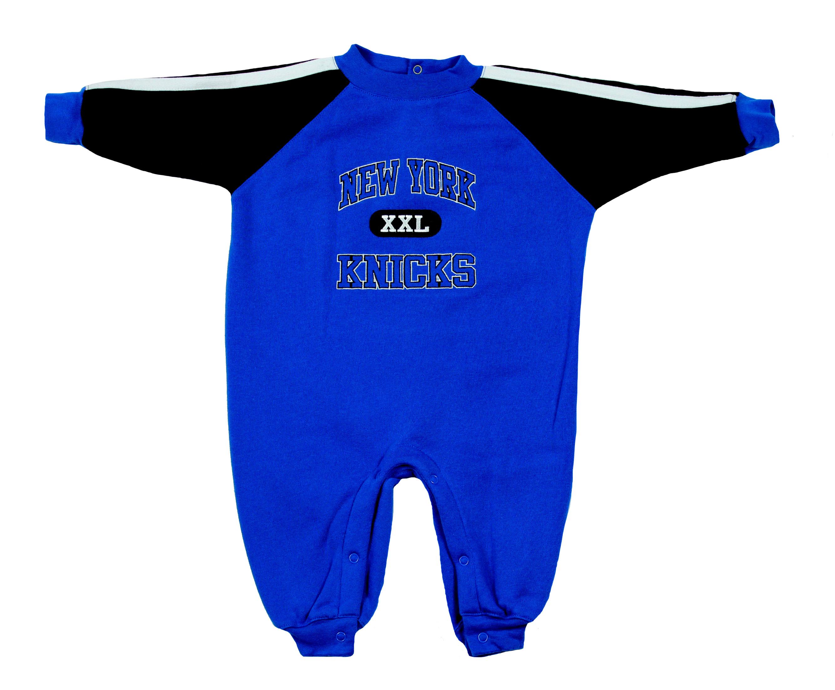ea437ace2 New York Knicks NBA Baby Boys Infants Fleece Coverall Bodysuit, Blue ...
