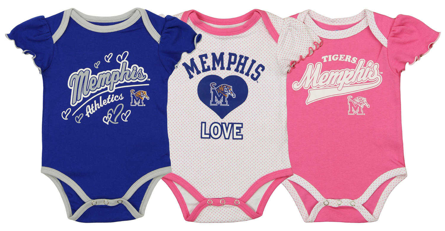 OuterStuff NCAA Infant Arkansas State Red Wolves 3 Piece Bodysuit Set
