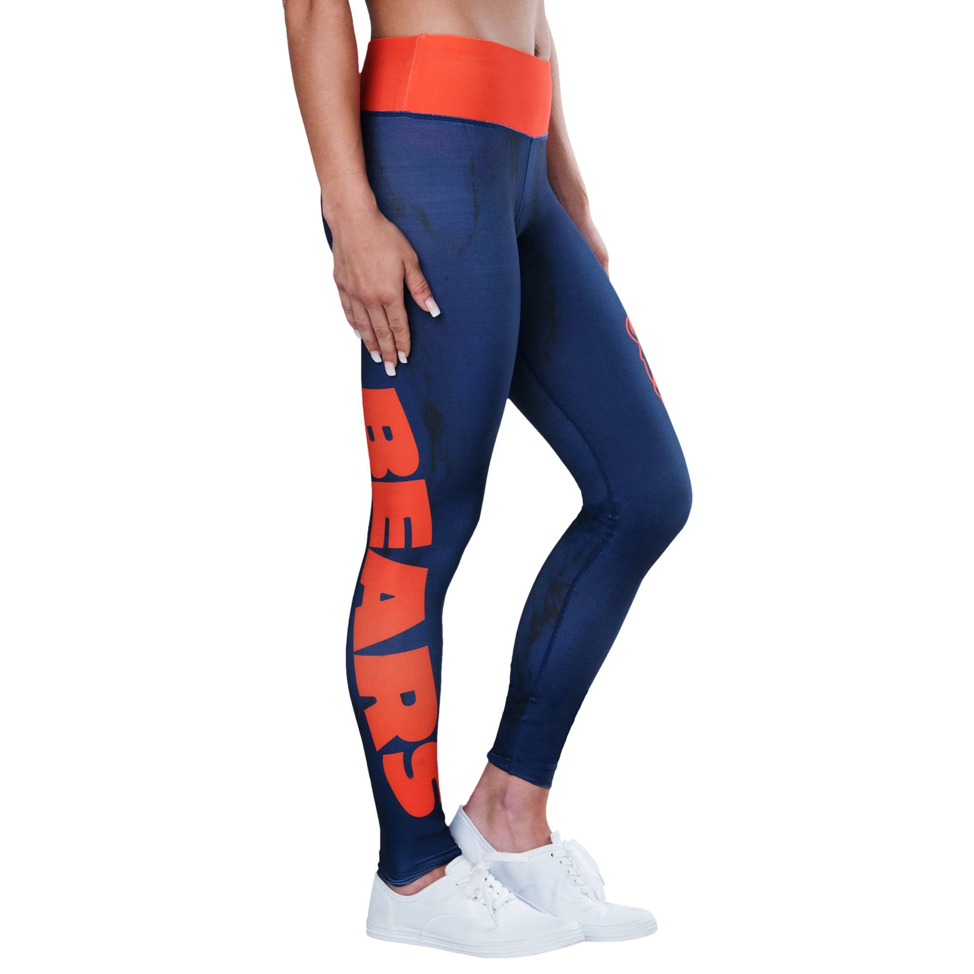 269473e29b311 Details about Forever Collectibles NFL Women's Chicago Bears Marble  Wordmark Leggings