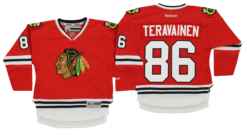 cf5f49498 Reebok NHL Kids Chicago Blackhawks Teuvo Teravainen  86 Player Jersey