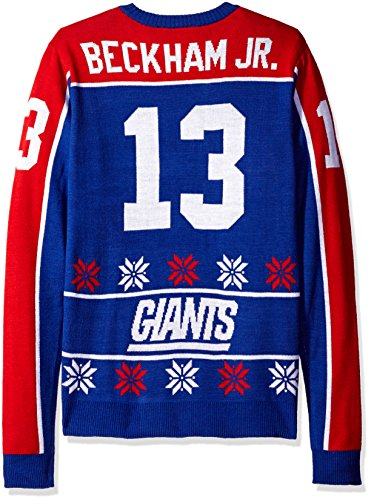1fd8e4a7 KLEW NFL Men's New York Giants Odell Beckham Jr. #13 2015 Ugly Sweater