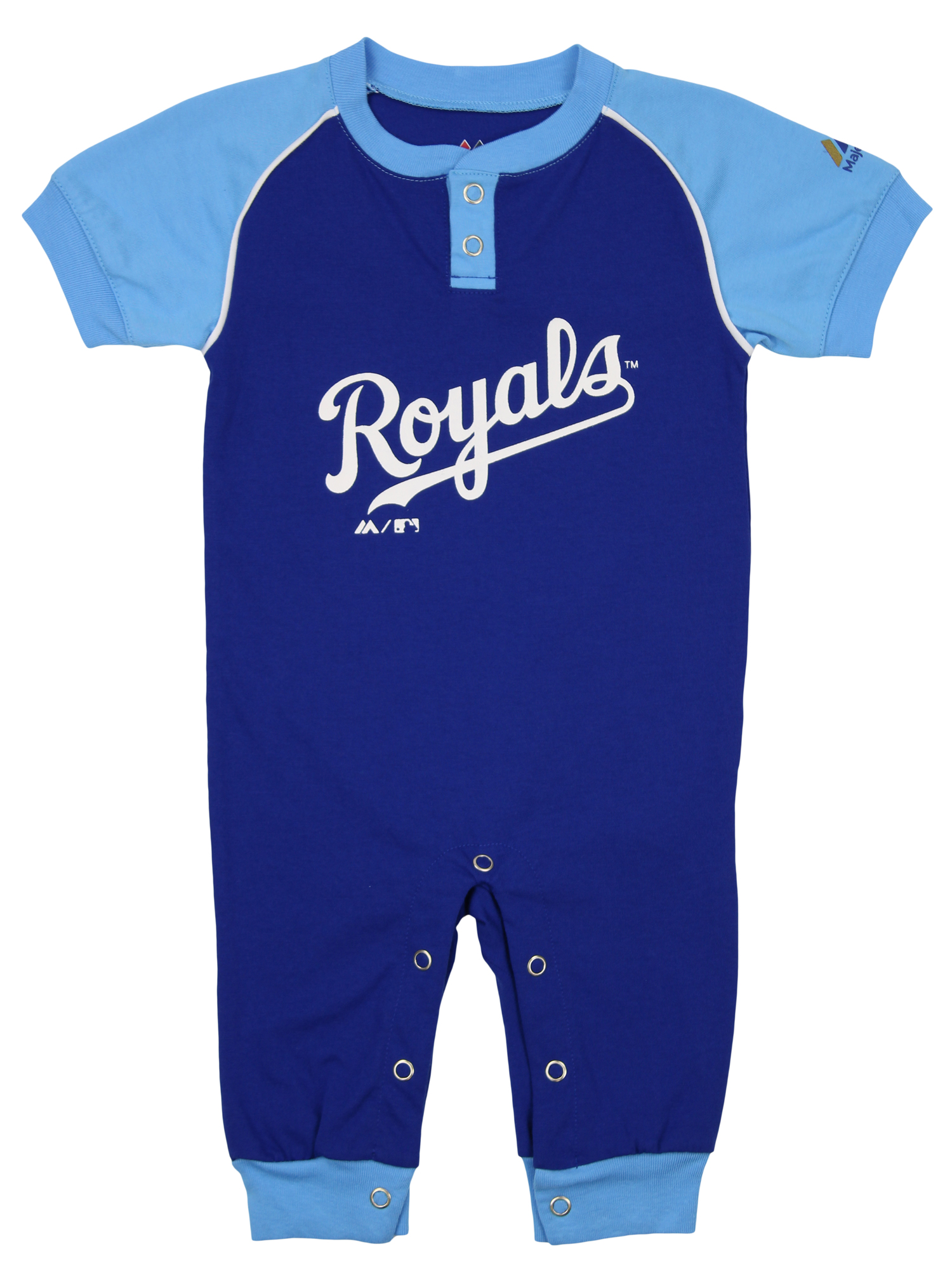 """Majestic MLB Infant Kansas City Royals /""""Game Time/"""" Coverall"""