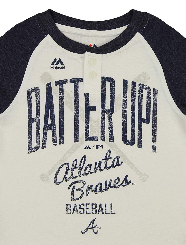 Majestic MLB Toddlers Kansas City Royals Batter Up 3//4 Sleeve Henley Tee