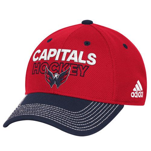 631f7681e43 Adidas NHL Men Washington Capitals Pro Authentic Locker Room Structured  Flex Hat