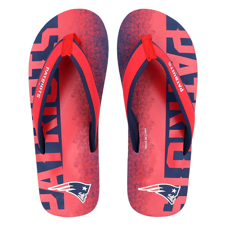11e5c2cfc85e2c FOCO NFL Men s New England Patriots Contour Fade Wordmark Flip Flop Sandals