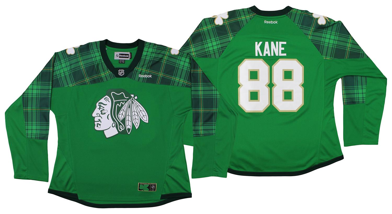 Reebok NHL Womens St. Patty s Chicago Blackhawks Patrick Kane  88 Jersey 1fc0b939c