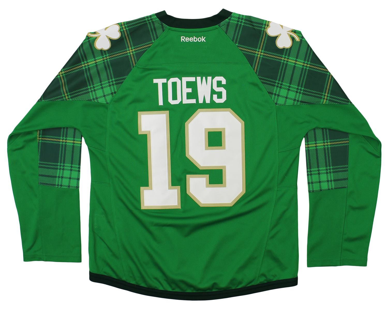 e0cc66685d2 Reebok NHL Chicago Blackhawks Jonathan Toews #19 Womens St. Patty's Day  Jersey