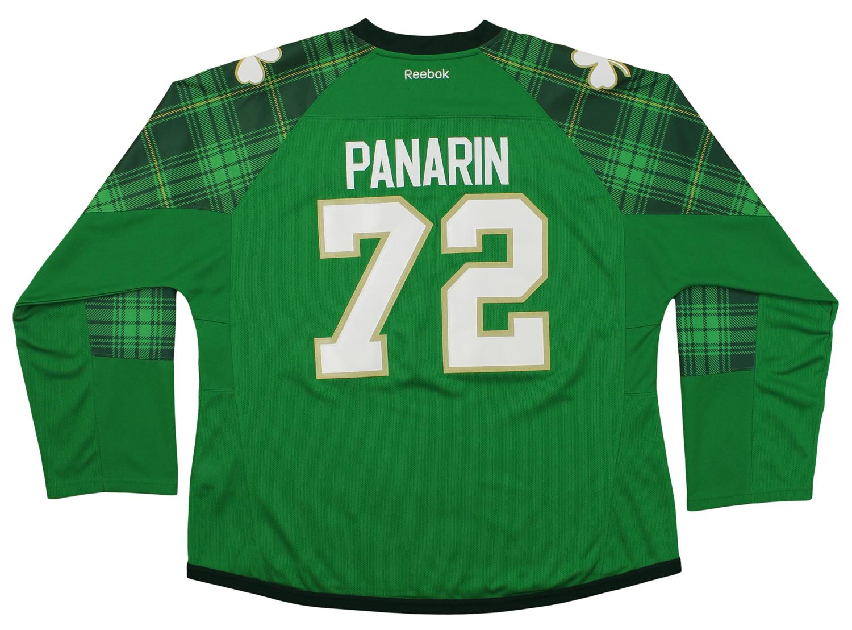 more photos 6bbb7 da969 Details about Reebok NHL Womens Chicago Blackhawks Artemi Panarin #72 St.  Patty's Green Jersey