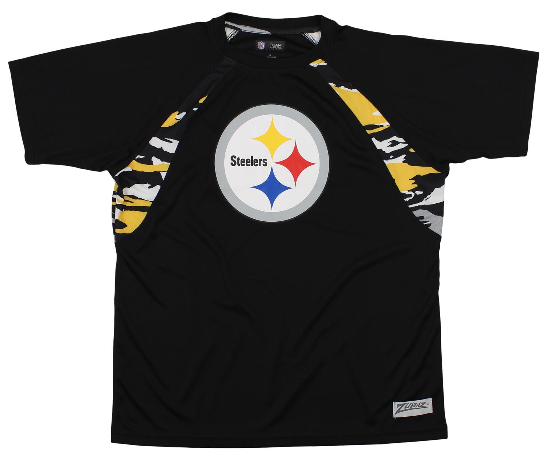 Zubaz NFL Pittsburgh Steelers Women/'s Team Column Leggings
