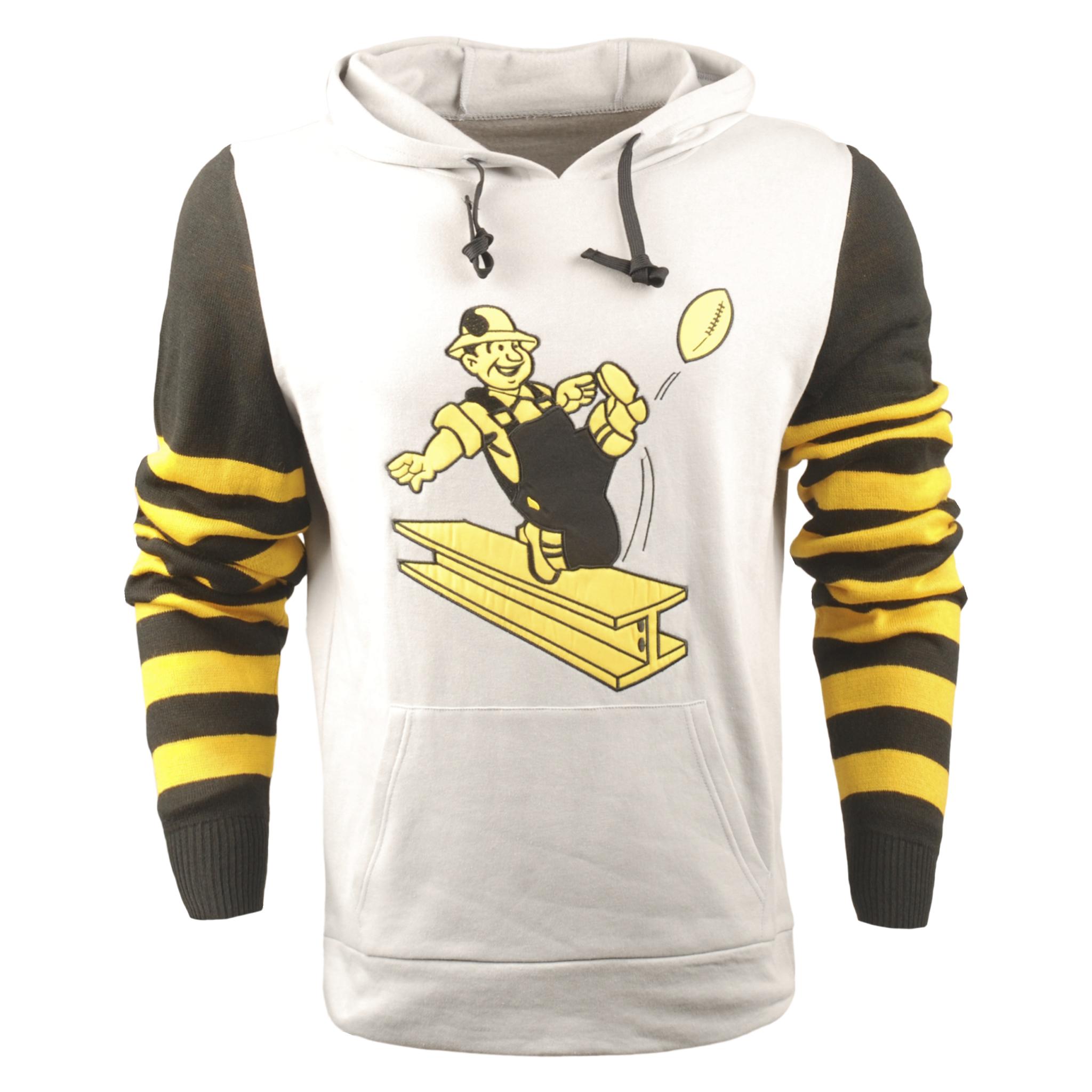 Pittsburgh Steelers Big Logo Hooded Sweater Medium