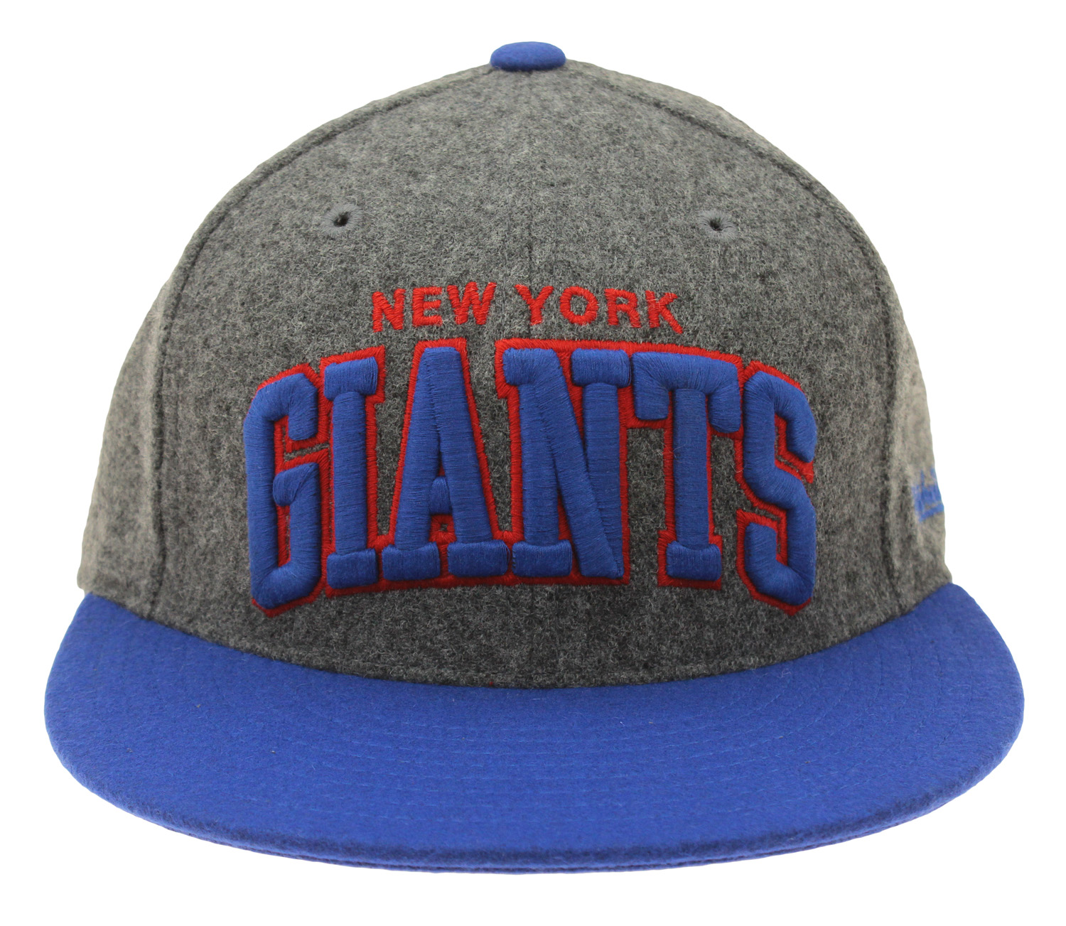 2c279198e Mitchell & Ness NFL Football Mens New York Giants Fitted Arch Melton Cap,  Grey
