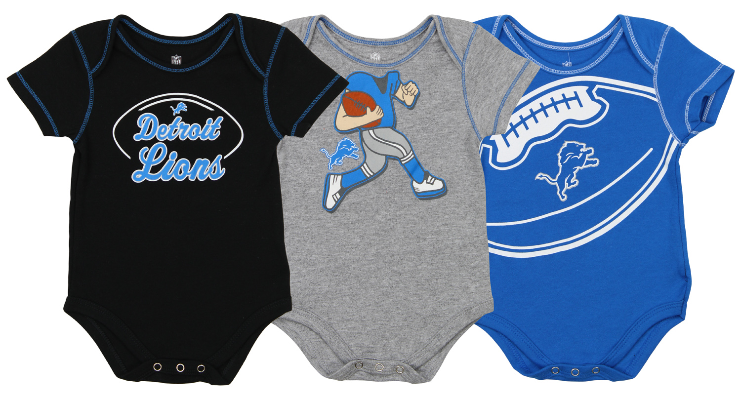 ffb2a583 Details about Outerstuff NFL Infant Detroit Lions 3 Pack Creeper Set