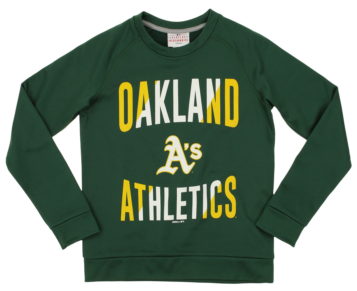Outerstuff Oakland Athletics Boys Youth Green Crew Neck T-Shirt