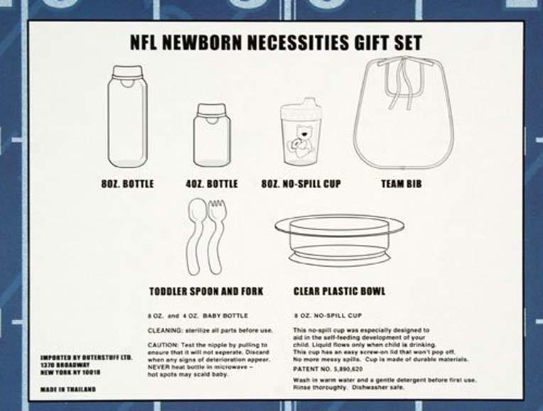 Detroit Lions NFL Football Newborn Baby Necessities Gift Set
