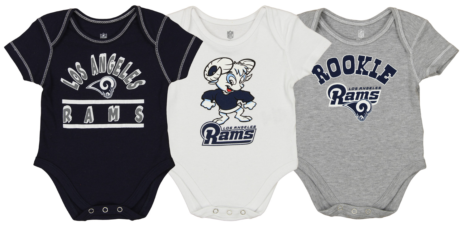 d41bd629 Details about OuterStuff NFL Newborn and Infant 3 Piece Creeper Set, Los  Angeles Rams