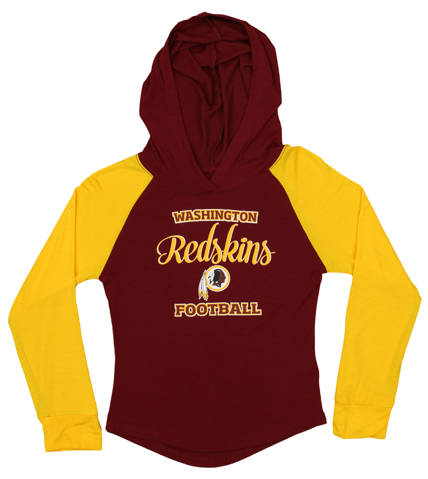 0b83e796 Details about OuterStuff NFL Youth Girls Long Sleeve Hooded Shirt,  Washington Redskins