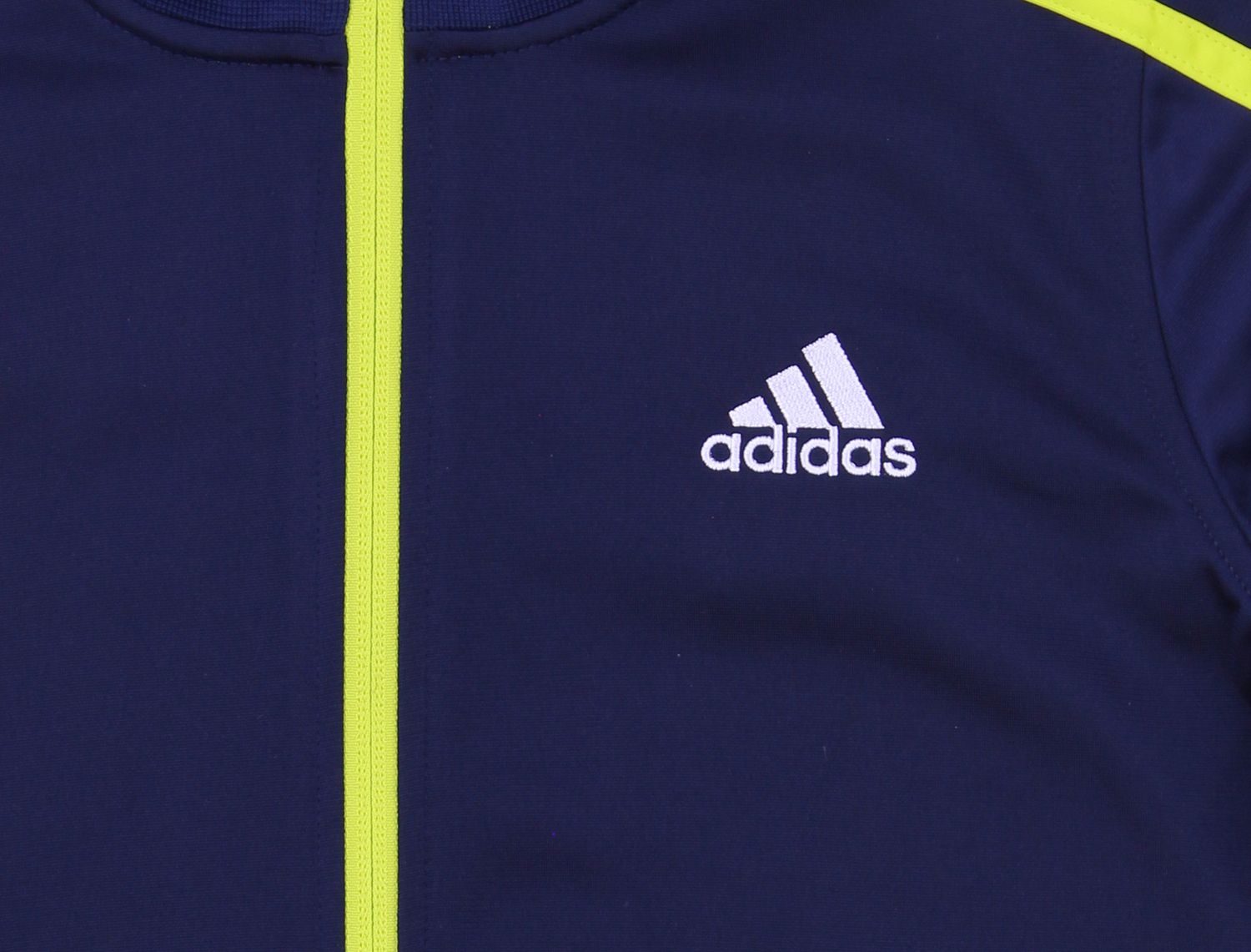 adidas Little Boys Colorblocked Tricot Track Jacket Navy