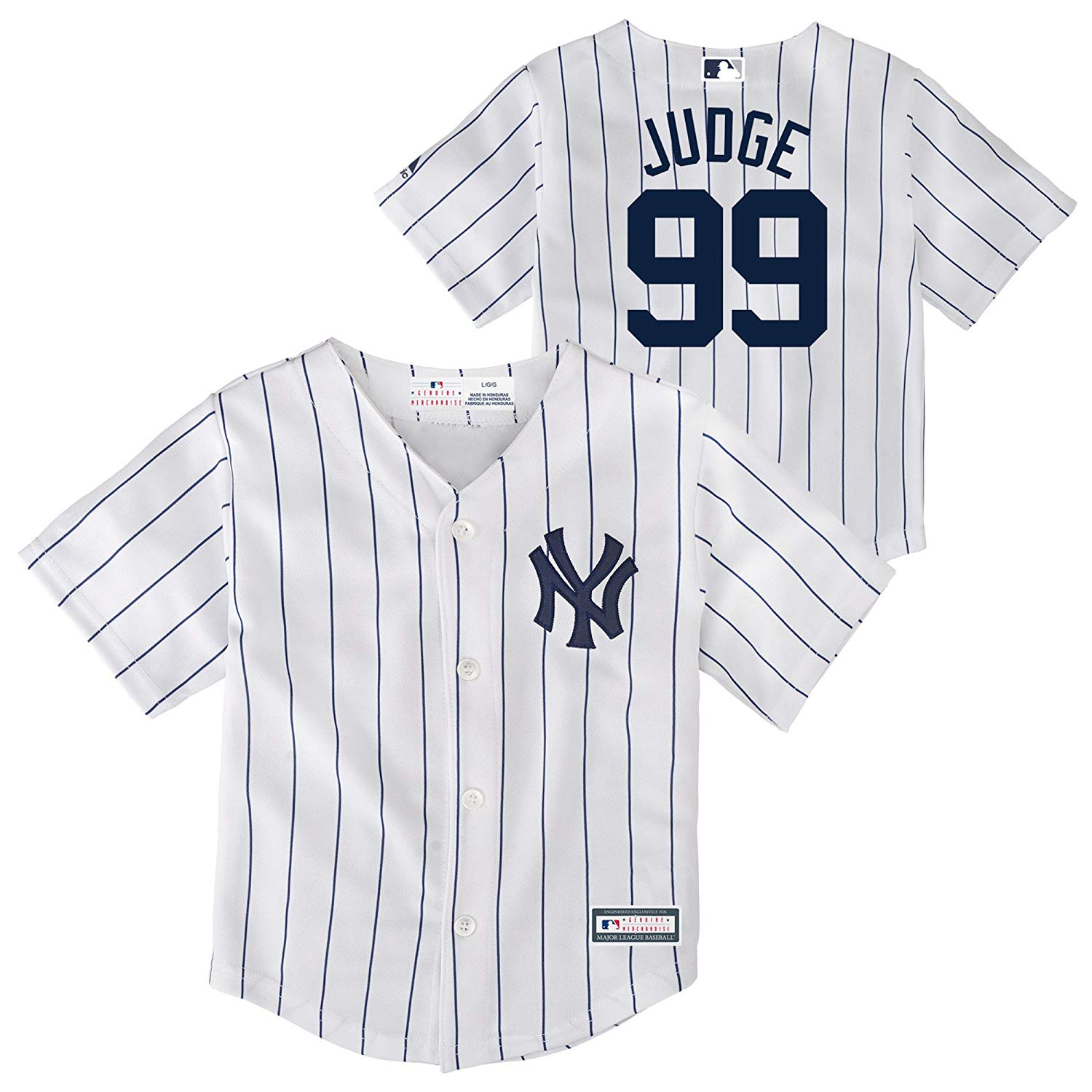 the best attitude 61cf0 e3827 Details about Outerstuff MLB Toddler New York Yankees Aaron Judge #99 Cool  Base Home Jersey
