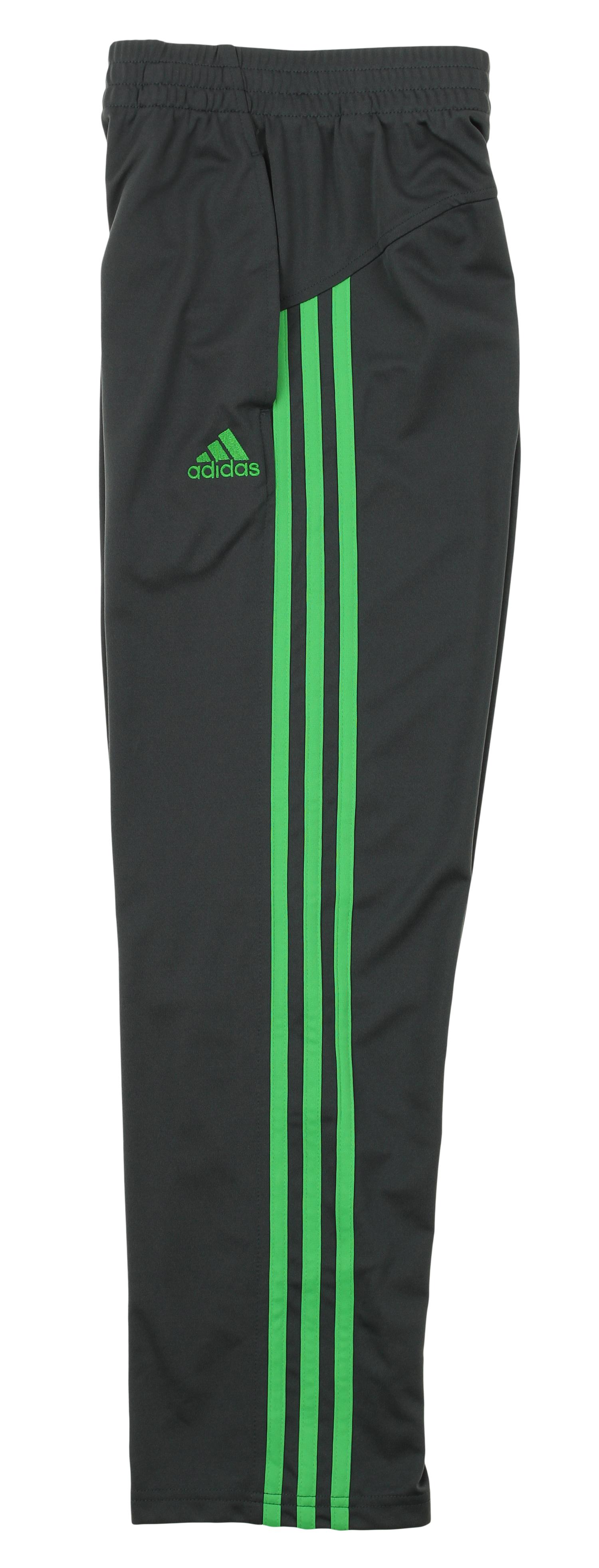 adidas Boys Athletic Loose Core Pants,Grey//Lime Medium 10//12