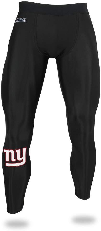Zubaz NFL Men/'s Los Angeles Rams Active Performance Compression Black Leggings