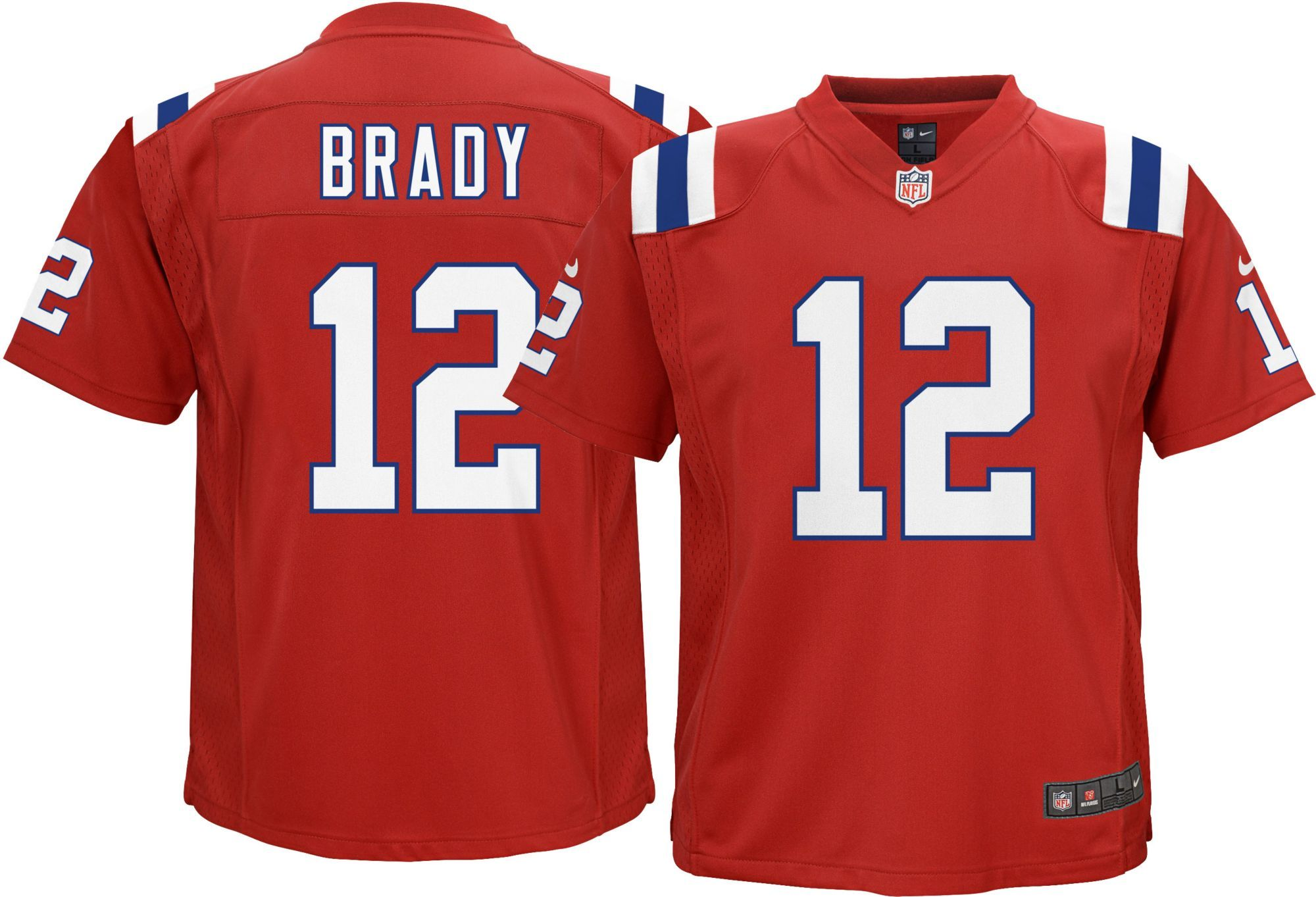 Tom Brady Tampa Bay Buccaneers #12 Red Kids 4-7 Home Game Day Jersey