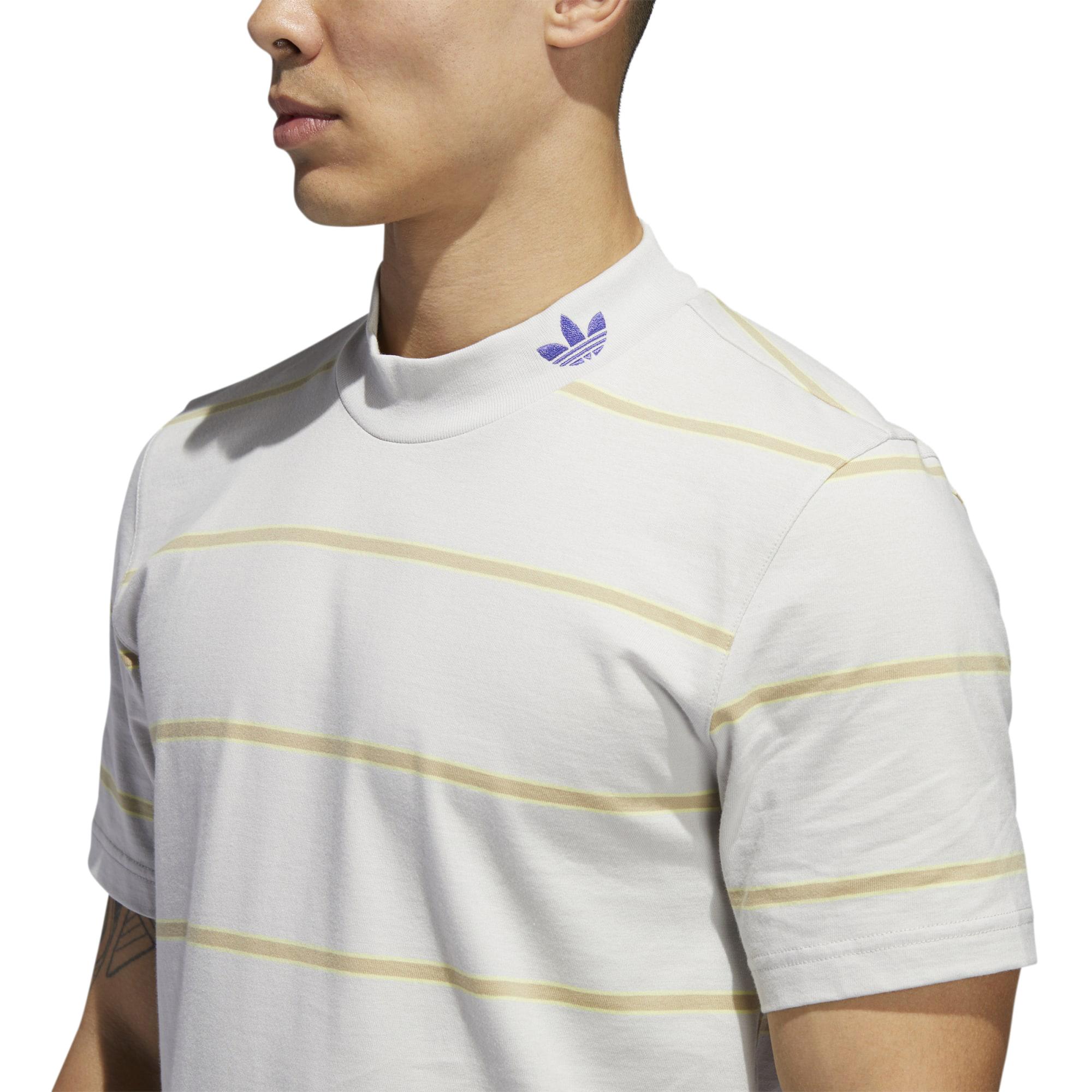 Adidas Men's Mock Eye Yarn Dye Shirt, Grey One/Mesa/Yellow Tint | eBay